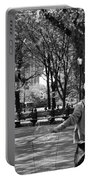 Bubble Boy Of Central Park In Black And White Portable Battery Charger