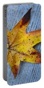Burnished Gold On Wood Portable Battery Charger