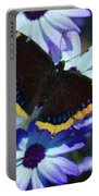 Butterfly In Blue Portable Battery Charger