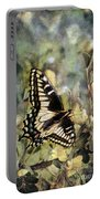 Butterfly On Yellow Flowers Portable Battery Charger