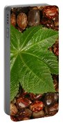 Castor Bean Leaf And Seeds Portable Battery Charger