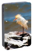 Cattle Egret In Breeding Plumage Portable Battery Charger