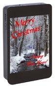 Christmas Along The Creek Portable Battery Charger
