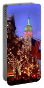 Christmas In New York Portable Battery Charger