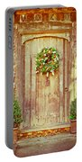 Christmas Wreath Portable Battery Charger by Tom Gowanlock
