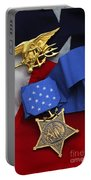 Close-up Of The Medal Of Honor Award Portable Battery Charger