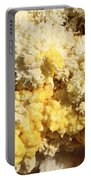 Close-up Of Yellow Salt Crystals Portable Battery Charger