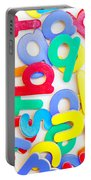Colorful Letters Portable Battery Charger