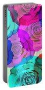 Colorful Roses Design Portable Battery Charger by Setsiri Silapasuwanchai