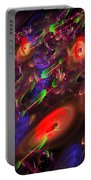 Computer Generated Blue Red Green Abstract Fractal Flame Modern Art Portable Battery Charger