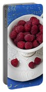 Cup Full Of Raspberries Portable Battery Charger