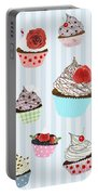 Cupcake  Portable Battery Charger by Setsiri Silapasuwanchai
