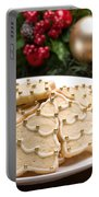 Decorated Cookies In Festive Setting Portable Battery Charger