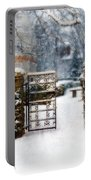 Decorative Iron Gate In Winter Portable Battery Charger
