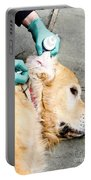 Dog Grooming Portable Battery Charger by Photo Researchers, Inc.
