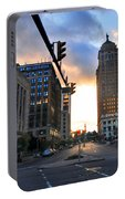 Early Morning Court Street Portable Battery Charger