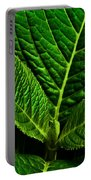 Emerging Hydrangea Leaf Portable Battery Charger