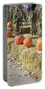 Fall  Halloween On Tillson Street Portable Battery Charger