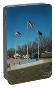 Flags With Blue Sky Portable Battery Charger