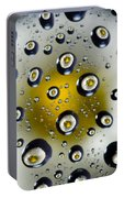 Flowers In Water Drops Portable Battery Charger