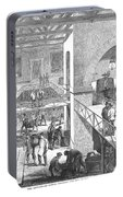 France: Wine Harvest, 1871 Portable Battery Charger