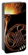 French Horn With Sparks Portable Battery Charger