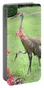 Garden Visitors Portable Battery Charger by Carol Groenen