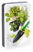 Gardening Tools And Plants Portable Battery Charger