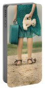 Girl In The Dunes Portable Battery Charger