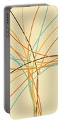 Graphic Line Pattern Portable Battery Charger by Setsiri Silapasuwanchai
