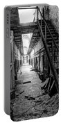 Grim Cell Block In Philadelphia Eastern State Penitentiary Portable Battery Charger