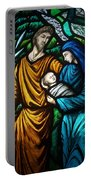 Holy Family Stained Glass Portable Battery Charger