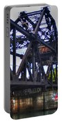 Jack-knife Bridge At Erie Canal Harbor Portable Battery Charger