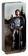 Knight In Shining Armour Portable Battery Charger by Yedidya yos mizrachi