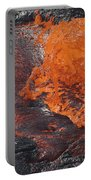 Lava Bursting At Edge Of Active Lava Portable Battery Charger