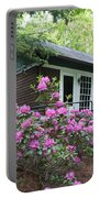 Little Brown Church In Spring Portable Battery Charger