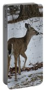 Little White Tail On The Move Portable Battery Charger