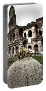 love locks in Rome Portable Battery Charger