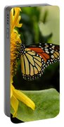 Monarch And The Sunflower Portable Battery Charger