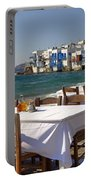 Mykonos Portable Battery Charger by Joana Kruse