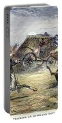 Native American Attack On Coach Portable Battery Charger