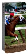 Neck And Neck At Saratoga One Portable Battery Charger