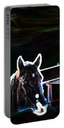 Neon Horse Portable Battery Charger