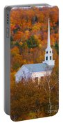 New England Church In Autumn Portable Battery Charger