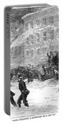 New York: Snowstorm, 1867 Portable Battery Charger