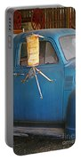 Old Blue Farm Truck Portable Battery Charger