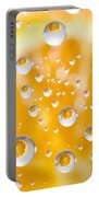 Orange Water Drops Portable Battery Charger