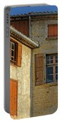 Orange Windows In Provence Portable Battery Charger