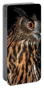 Side Portrait Of An Eagle Owl Portable Battery Charger