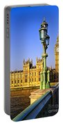 Palace Of Westminster From Bridge Portable Battery Charger